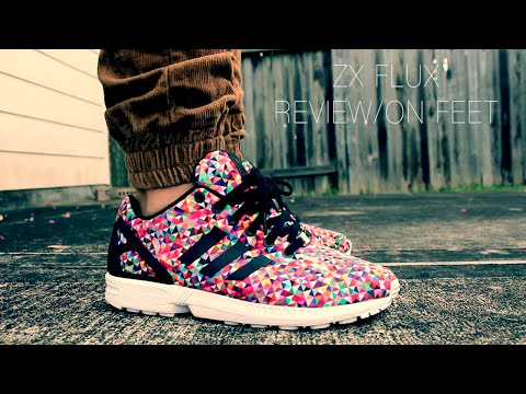 d45421fac Adidas ZX Flux woven reflective On Foot video !!!!