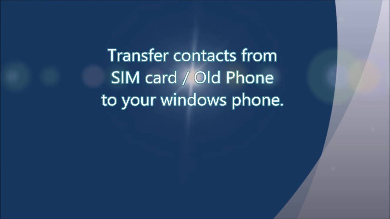 windows 7 phone export contacts to sim