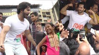 Varun dhavan LIve celebrate dahi handi At Ghatkopar Mumbai Janmashtami 2018