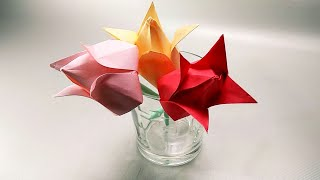 How To Make Paper Tulip Flower Bouquet