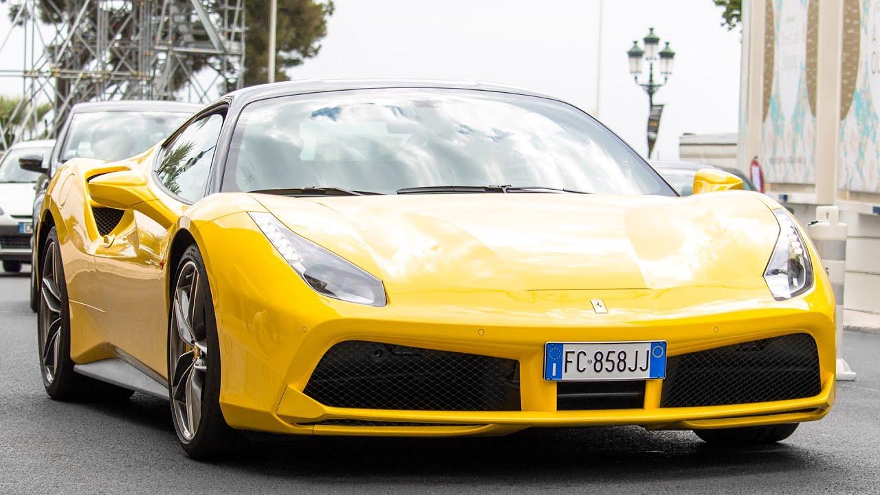 YELLOW FERRARI 488 GTB - Driving and sound 2016 HQ - YouTube