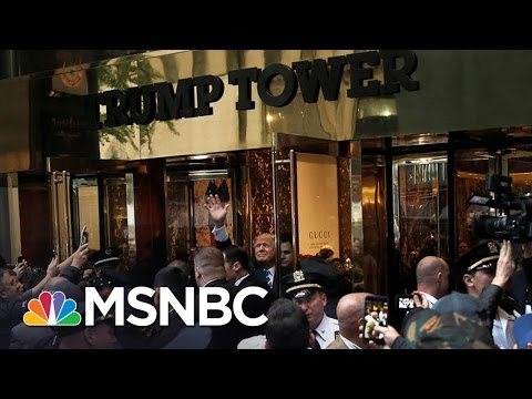 Donald Trump Ducks Media, Sneaks Out For Dinner   Rachel Maddow   MSNBC