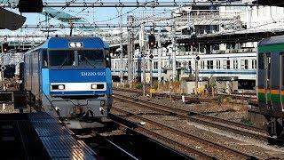 2019/11/12 【試作機 貨車配給】 JR貨物 配6794レ EH200-901 大宮駅 | JR Freight: Freight Cars at Omiya