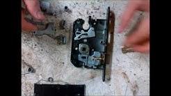 Reconstructing a door lock mechanism