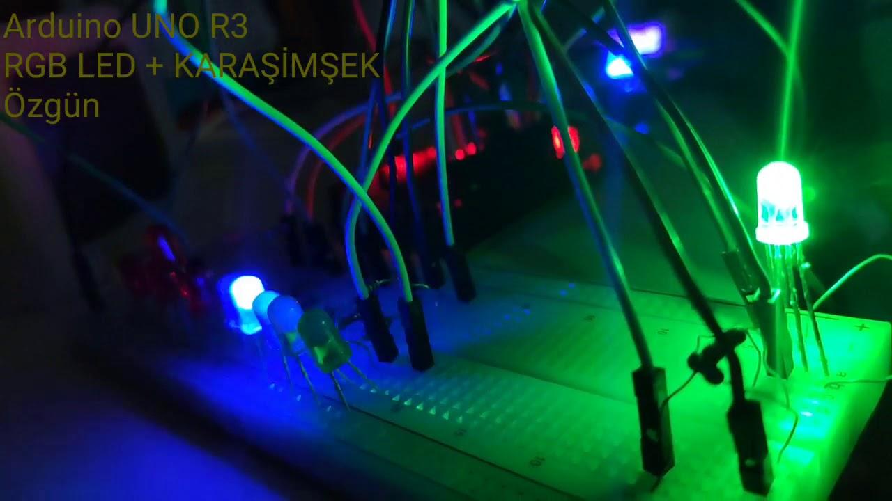 KaraŞimşek Ve RGB Led Birlikte Devre - Arduino