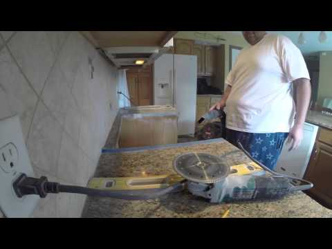 Cutting Granite for Larger Stove