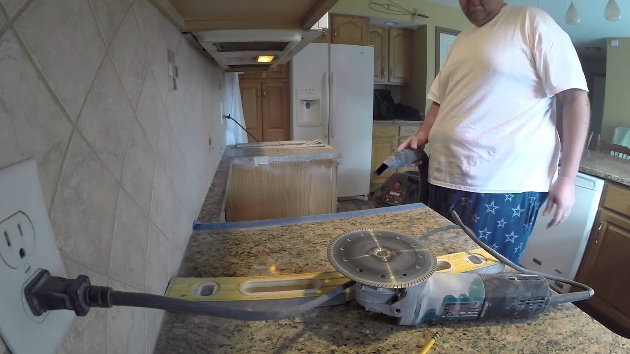 Cutting Granite For Larger Stove Youtube