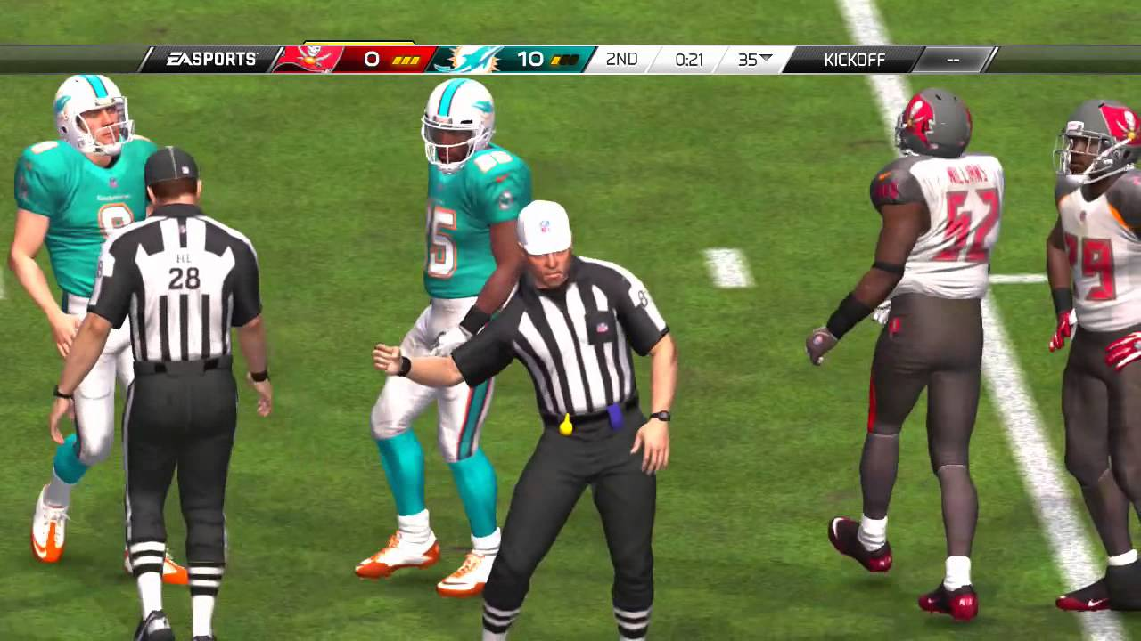 Madden Nfl 16 Ps3 Tampa Bay Buccaneers Vs Miami Dolphins Preseason Game Youtube