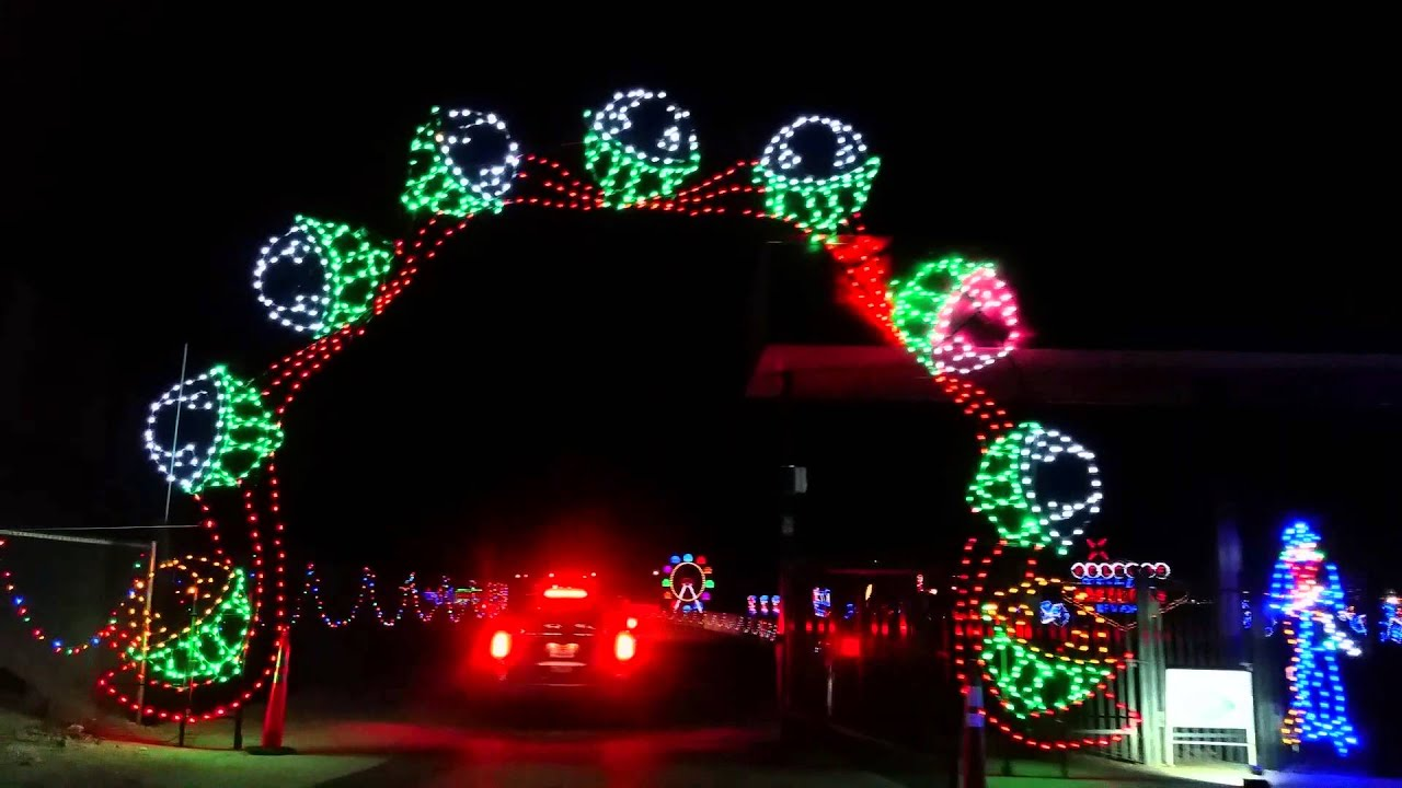 Las Vegas speedway Christmas Light Show 2015 - YouTube