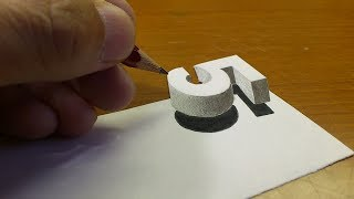 Simple!! How To Drawing 3D Floating Number