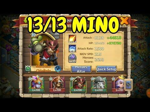 Guild Wars With 13/13 Mino L Castle Clash