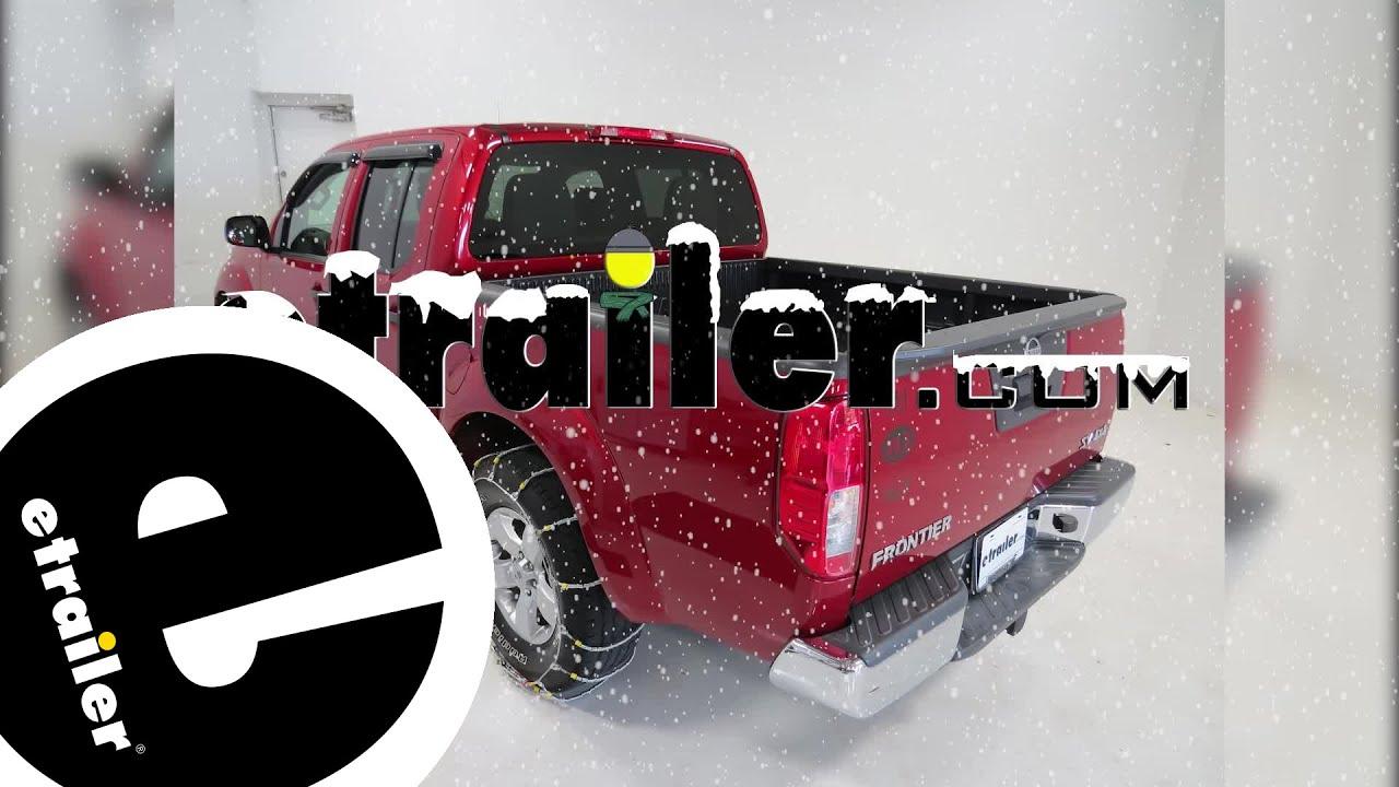 Glacier Cable Snow Tire Chains Review   2013 Nissan Frontier   Etrailer.com