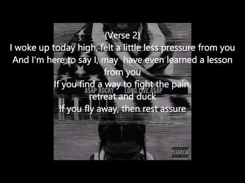 A$AP Rocky ft. Florece Welch - I Come Apart (Lyrics)