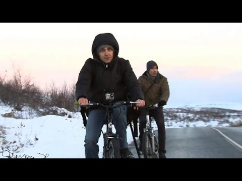 Syrian Refugees Cycle To Freedom In Norway