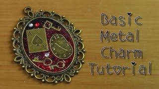Basic Metal Charm Tutorial☆ミール皿ラメアクセサリー