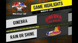 PBA Philippine Cup 2018 Highlights: Ginebra vs Rain or Shine Mar. 7, 2018