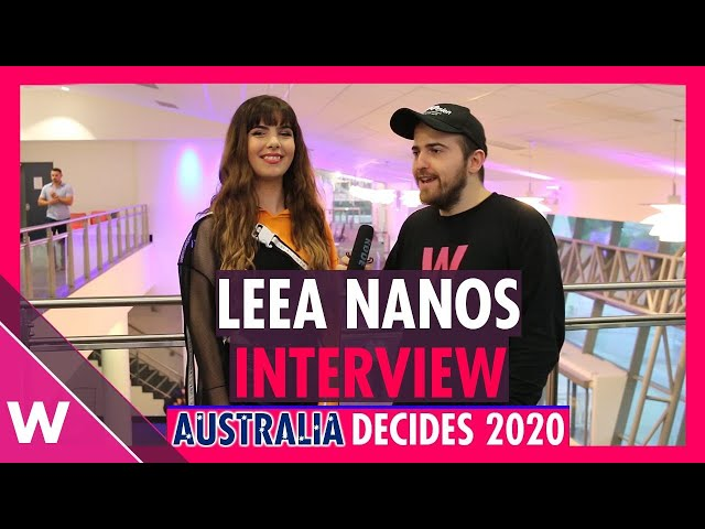Leea Nanos wants to sing for Greece at Eurovision 2021| Australia Decides 2020 interview