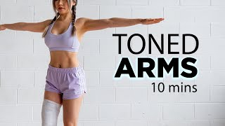 10 Mins Toned Arms Workout | No Equipment