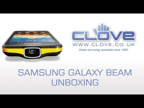 Samsung Galaxy Beam GT-I8530 (Projector Phone) Unboxing & Demonstration