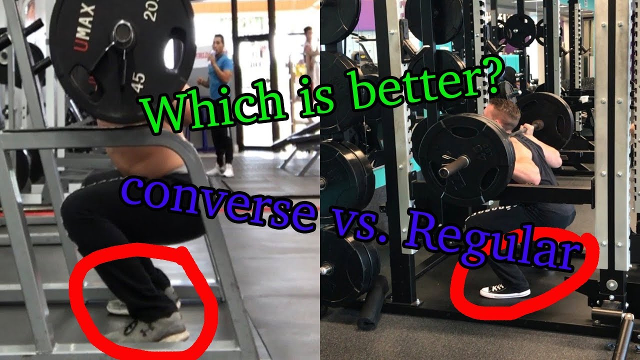 aaad27dcbdcc Are Converse Chuck Taylors better for lifting  (with proof) - YouTube