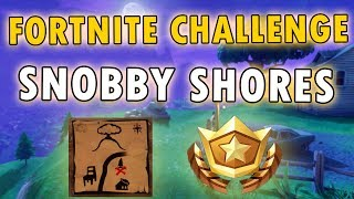 SNOBBY SHORES TREASURE MAP LOCATION! - Fortnite Battle Pass Challenge