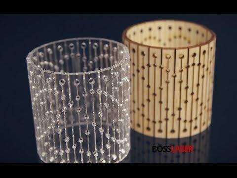 Laser Cut Bendable Wood Amp Acrylic Living Hinge Bracelet