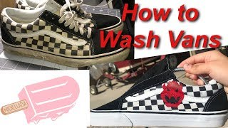 How To Clean and Restore Checkered Vans| Bowser Custom Vans