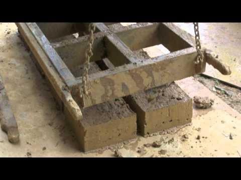 Mud Brick Making Using a Small Tractor