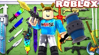 BUYING ALL RARE ROBLOX WEAPONS! (ROBLOX ELEMENTAL TYCOON)
