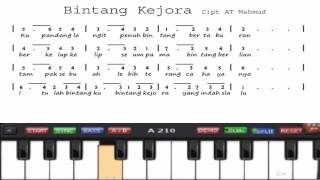 "Virtual Piano ""Bintang Kejora"" Dengan Not Angka."