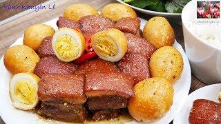 Thịt Kho Tàu - Thịt Ba rọi theo kiểu mới của Nhà Hàng - Bạn thử nấu và cho cảm nhận by Vanh Khuyen