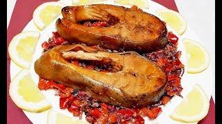 ЗАПЕЧЕННАЯ ФОРЕЛЬ с овощами! Красная рыба в духовке - Просто ОБЪЕДЕНИЕ!!!