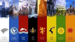 8 Великих Домов и 7 Королевств Вестероса