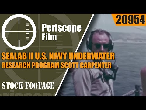 SEALAB II  U.S. NAVY UNDERWATER RESEARCH PROGRAM  SCOTT CARPENTER  20954