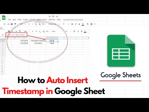 How to Auto Insert Timestamp in Google Sheet - Internet Geeks