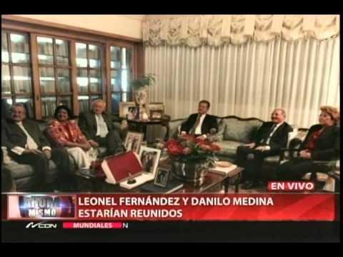 Leonel Fernández y Danilo Medina se encuentran reunidos