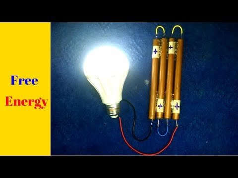 Free Energy_battery with copper pipe and alluminum battery water made easy homemade project 2018