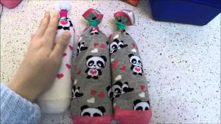 Drying your shoes quickly: How to make rice sockies