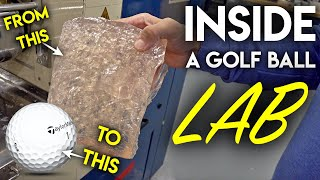 Inside a GOLF BALL LAB! How they make golf balls / Видео