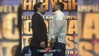 MANNY PACQUIAO & LUCAS MATTHYSSE FACE TO FACE FOR FIRST TIME IN PHILIPPINES