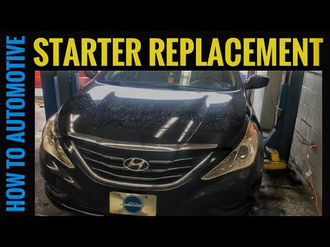 How to Replace the Starter Motor on a 2009-2014 Hyundai Sonata with 2.4 L Engine