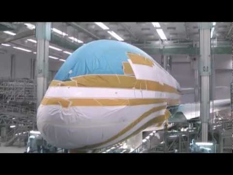 Airbus A380 - Painting At The Factory [HQ]