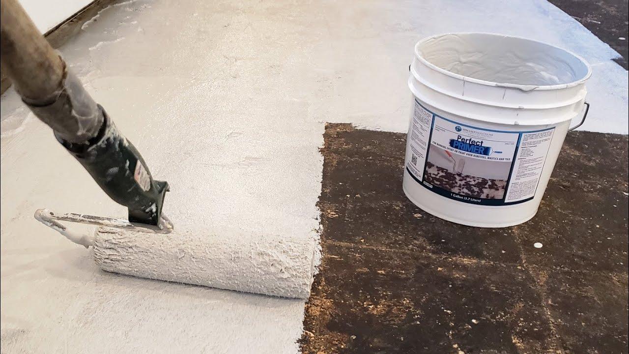 sealing asbestos mastic with perfectprimer