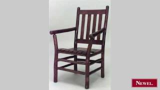 Antique American Rustic Old Hickory Arm Chair With Slat