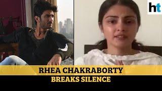 Sushant Rajput death case: Rhea Chakraborty breaks silence lLatest updates