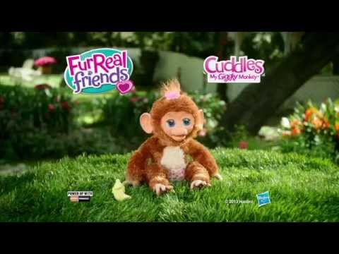 A1650 Hasbro интерактивная игрушка из серии FurReal Friends Смешливая обезьянка с аксессуарами Ad