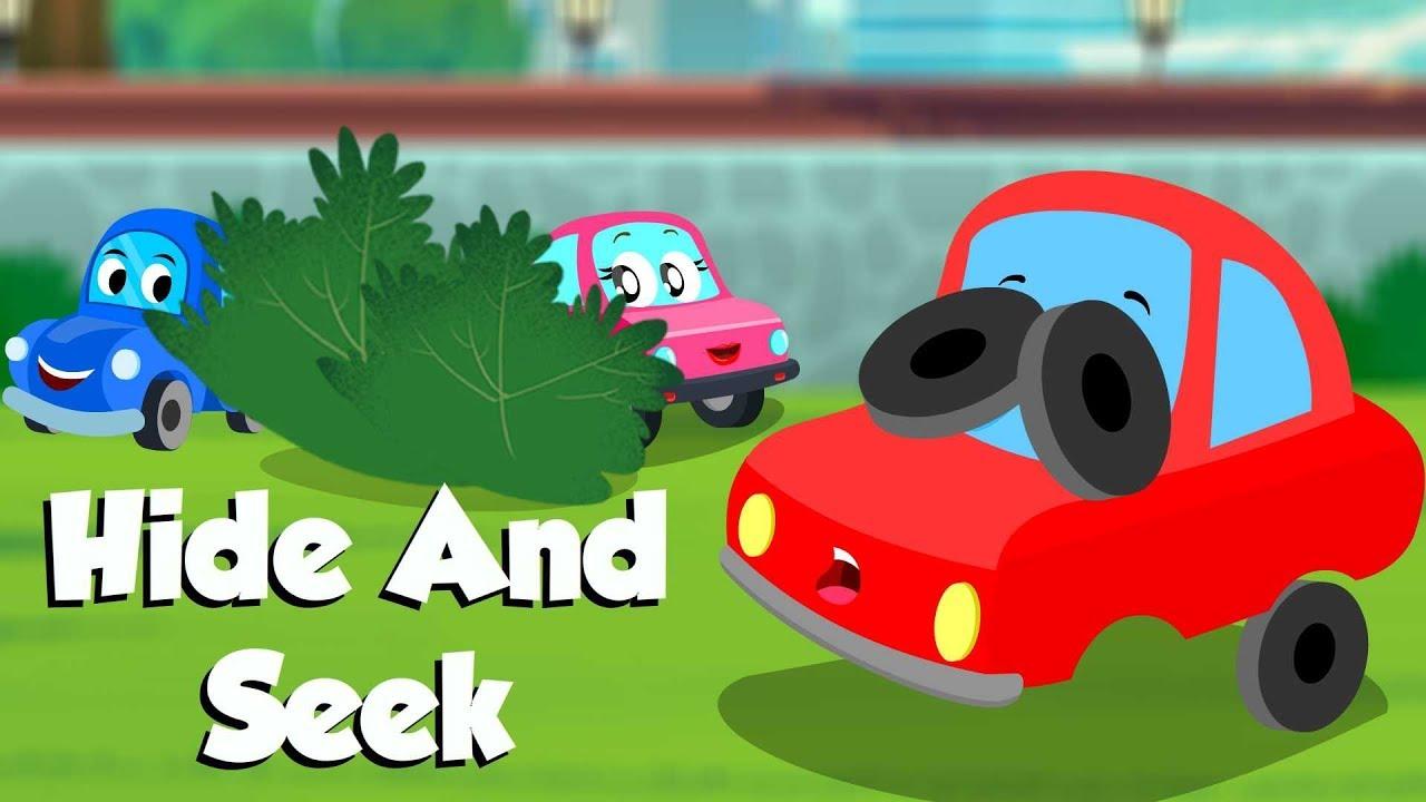 Hide And Seek Little Red Car Car Cartoon Videos For