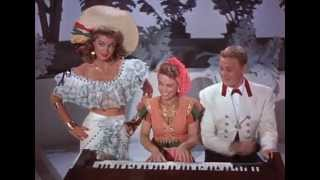 Esther Williams and Van Johnson singing in Portuguese