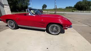 1964 Little Red Corvette in Brenham Texas