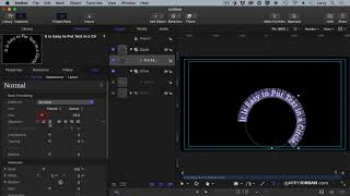 Create and Animate Text on a Curve in Apple Motion